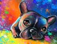 Whimsical French Bulldog painting print