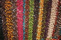 Strings of Tagua Beads at the Otavalo Market