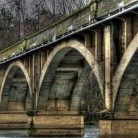 """Old Bridge 24x16"" by VHarris"
