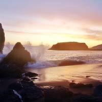 Golden Sunset Golden Surf by Richard Thomas