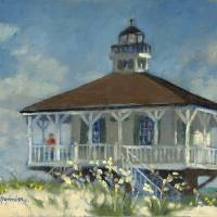 """BOCA GRANDE LIGHTHOUSE"" by DMannionPaintings"