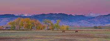 Colorado Country Morning Panorama