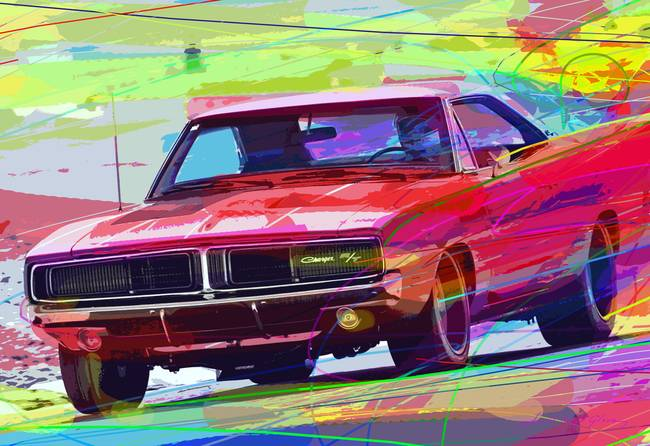 Stunning dodge artwork for sale on fine art prints 1969 dodge charger hemi by davidlloydglover 2012 sciox Image collections