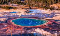Grand Prismatic Spring and Excelsior Spring