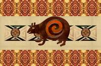 Native American 3D Folk Art Bear Motif