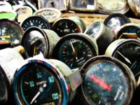 Old car gauges