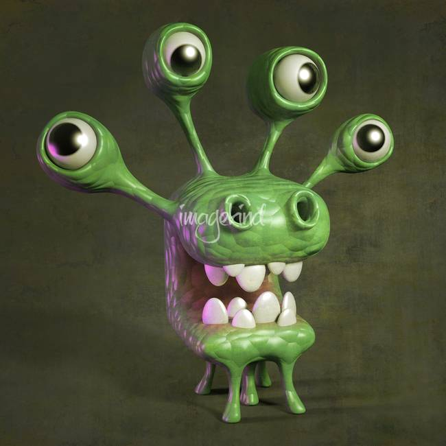 Cartoony monster