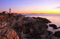 Dawn Seascape at Portland Head Lighthouse, Maine