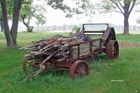 Old Farm Manure Spreader 12x18