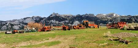 Old Farm Machinery at City of Rocks