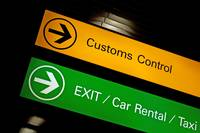 Customs control sign.