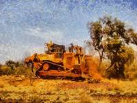 Bulldozing in the Pilbara Region WA