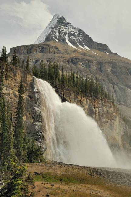 Emperor Waterfall in Canadian Rockies