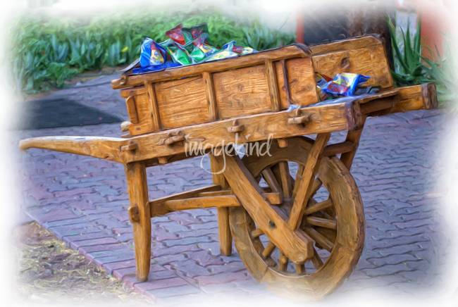 Vendor Cart-Painting- 1012
