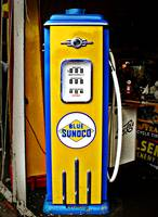 Blue Sunoco vintage gas pump