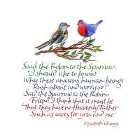 Said the Robin to the Sparrow
