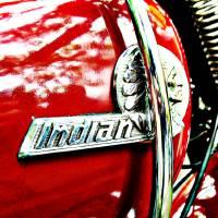 """Indian motorcycle tank badge"" by felixpadrosa"