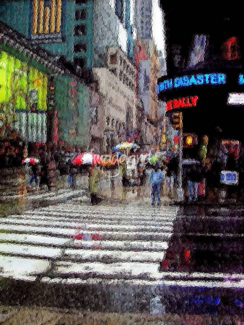 NEW YORK rainy day