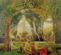 The Arbour, or 'The Conflict', c.1900 (oil on canv