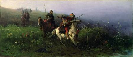 On Reconnaissance, 1876 (oil on canvas)