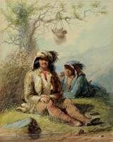Trappers, 1858 (w/c on paper)