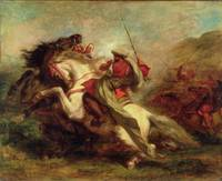 Collision of Moorish Horsemen, 1843-44 (oil on can