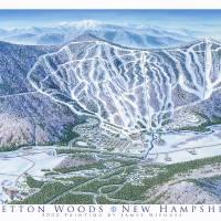 """Bretton Woods, New Hamshire"" by jamesniehuesmaps"