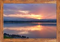 Longs Peak Sunset Reflection Rustic Picture Window