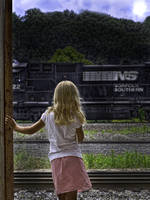 Little Girl & Train