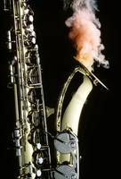 Saxophone with smoke