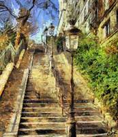 A stairway in  Montmartre