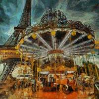 """Paris  tower and the Carousel"" by DragicaMickiFortuna"