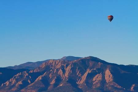 Boulder Colorado Flatirons Hot Air Balloon View