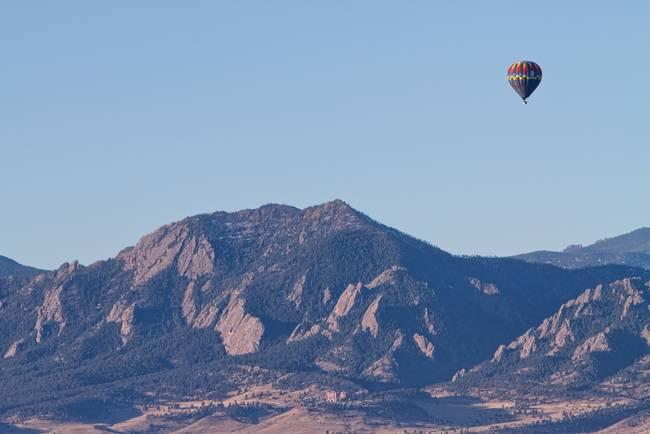 Colorado Rocky Mountain Front Range Hot Air Balloo