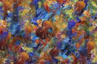 Colorful Violins Abstract Classical Music Print