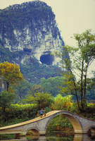 Foot Bridge-China by Joe Gemignani