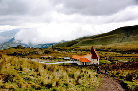 Chapel High on Pichincha Volcano, Ecuador