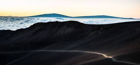 Haleakalā trail at sunrise