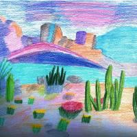 Desert Scene Art Prints & Posters by Jeanie Meraz