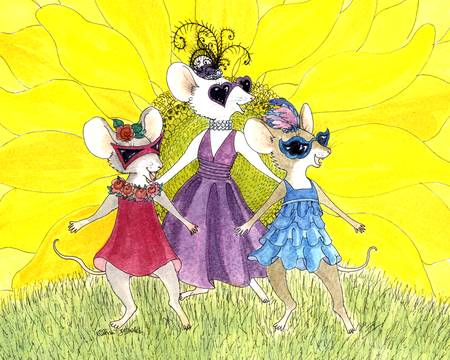 Three Bold Mice by Diana Delosh