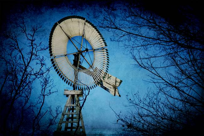 Blue Mullen Windmill