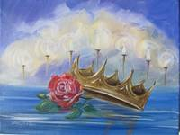 Casted Crown on the Crystal Sea ~ Revelation 4:11 by KIM KLOECKER