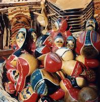 Painted Gourd Dolls; Turkey