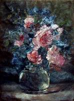 Antique oil floral