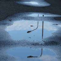 Street lamps in puddles Art Prints & Posters by Susi Giaroli
