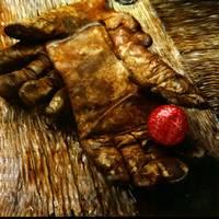 Gloves on Wood by Joe Gemignani