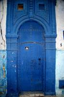 Blue door, Morocco