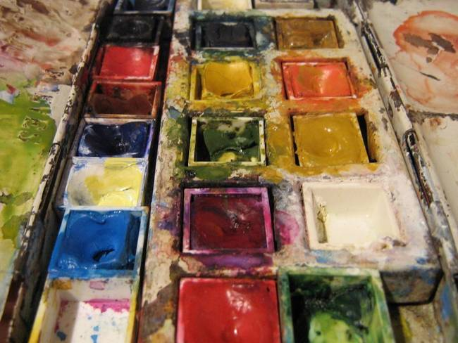 Mum's paintbox