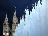 3 LDS Temple and Fountain