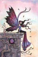 Amethyst Dream Fairy Art by Molly Harrison